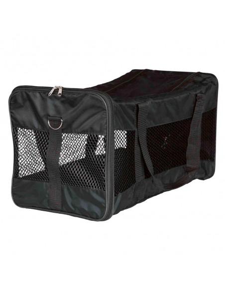 Bolsa para transporte de perros y gatos en nylon negro modelo Ryan