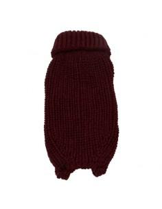 Jersey de punto para perro color granate