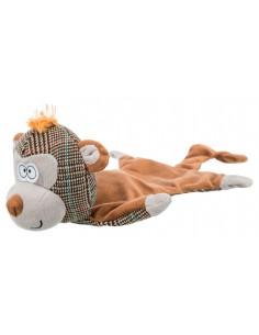 Juguete para perro peluche sin relleno mono