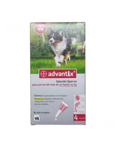 Antiparasitarios para perros - pipeta advantix para perros entre 10 y 25 kg