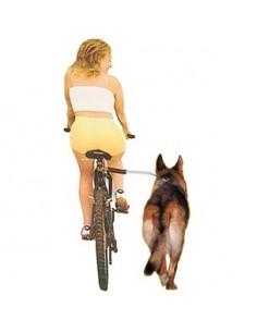 Barra separadora para pasear en bici con su perro