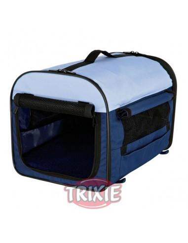 Caseta para perro desmontable en nylon, color azul beige