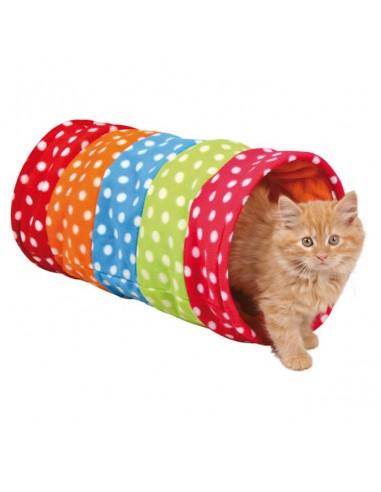 Juguete para gatos, túnel multicolor