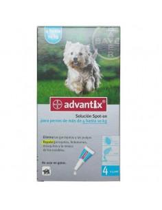 Pipeta Advantix para perros entre 4 y 10 Kg