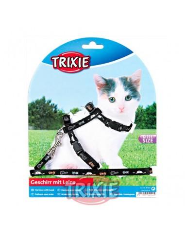 Arnés con correa para gatito