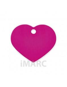 placa identificativa grabada perro corazon rosa