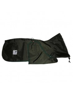 Impermeable para whippet color verde oliva