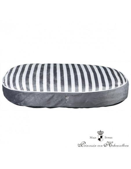 Cama para perro ovalada My Prince color gris