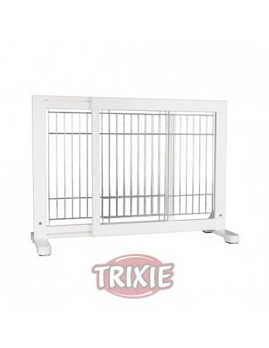 Barrera extensible blanca para puertas y escaleras