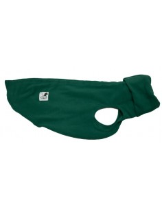 Ropa para perro forro polar para whippet color verde oscuro