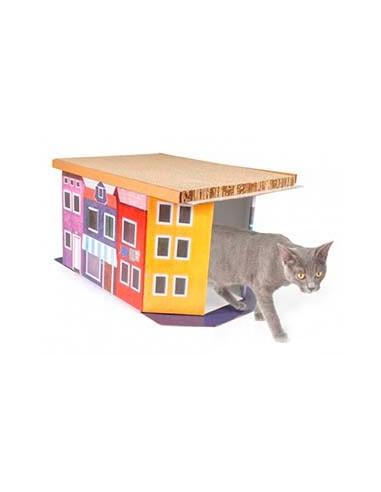 Casa de carton para gatos modelo A