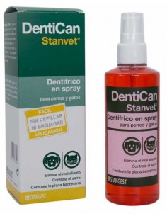 dentifrico en spray para perros dentican