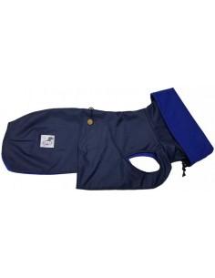 Abrigo Impermeable Acolchado Galgo color azul marino con forro azul