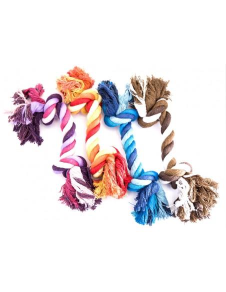 Juguetes para perros cuerda de nudos colores