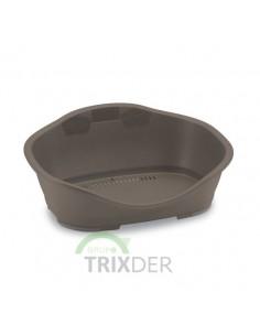Cuna para perros de plástico marrón