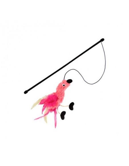 Juguete para gato pájaro con plumas