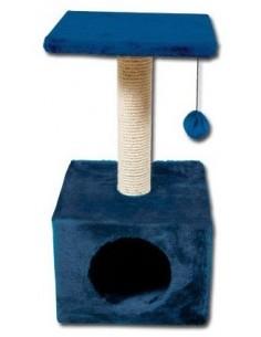 rascador azul para gato