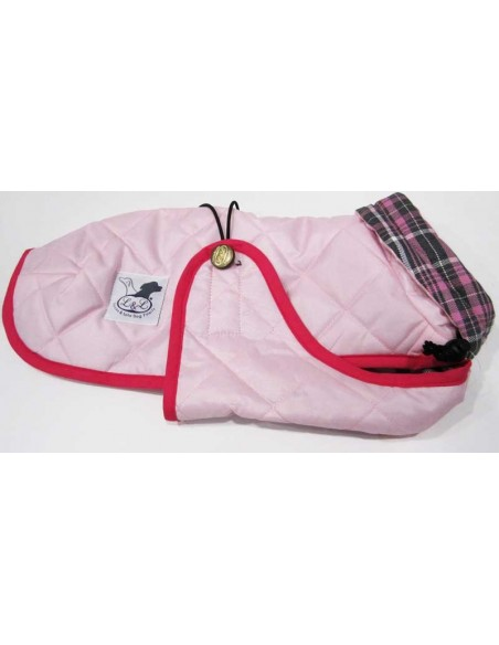 abrigo impermeable para piccolo rosa