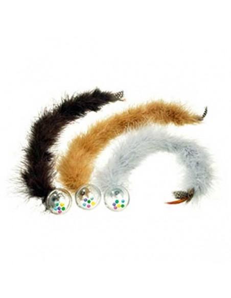 Juguete para gato bola con plumas