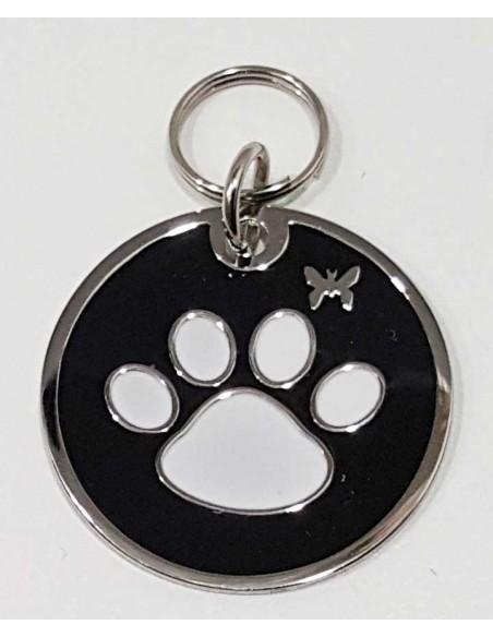 Chapa identificativa con huella de perro