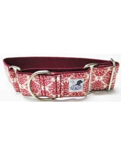collar galgo estampado rojo