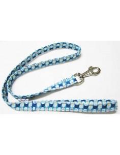 correa perro circulos azul