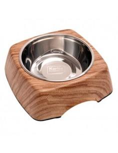Comedero perro imitación madera