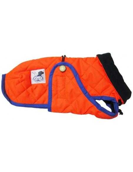 Abrigo Impermeable Acolchado para Piccolo naranja flúor