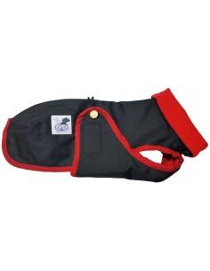 Abrigo Impermeable para Piccolo negro con forro polar rojo