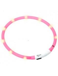 Collares para perros luminoso color rosa con cargador USB