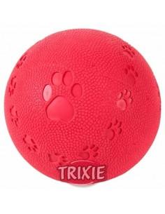 pelota caucho natural roja para perro