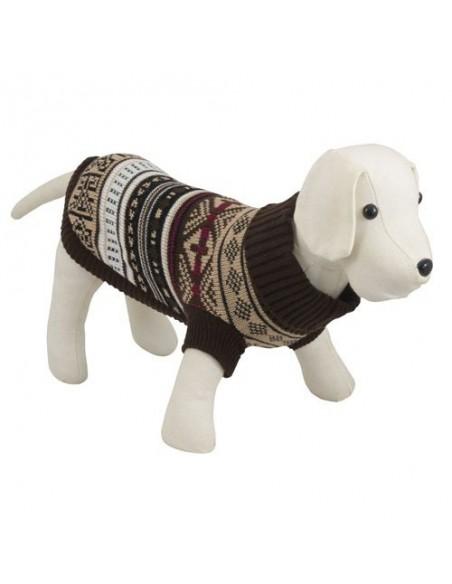 Jersey para perro con cuello en tonos marrones