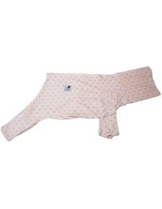 Pijama para piccolo de felpa rosa palo