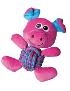 Juguetes para perros KONG Weave Knots Pig
