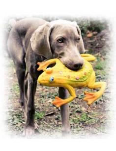 Juguete para perro rana de latex