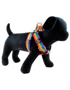 Arnes para perros de Nylon tipo americano arco iris