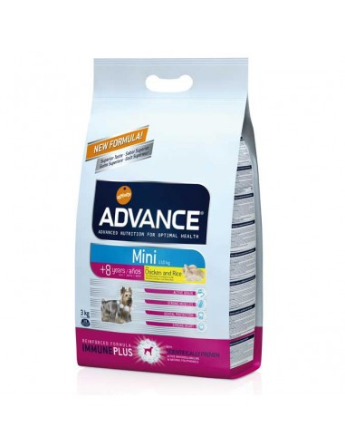 Comida para perros pienso advance MINI SENIOR CHICKEN & RICE