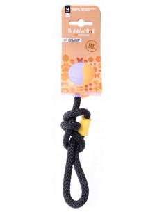 Juguetes para perros pelota maciza de caucho natural con cuerda