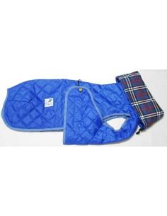 Ropa para perro -  abrigo Impermeable Acolchado Galgo color turquesa