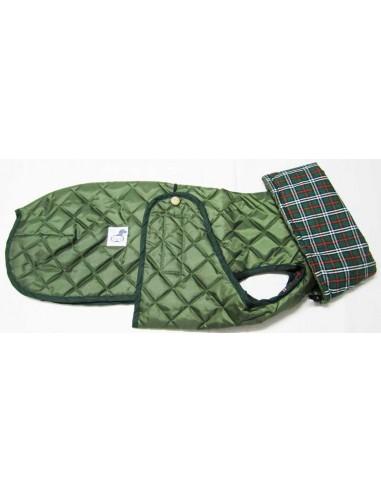 Ropa para perro -  abrigo Impermeable Acolchado Galgo color verde