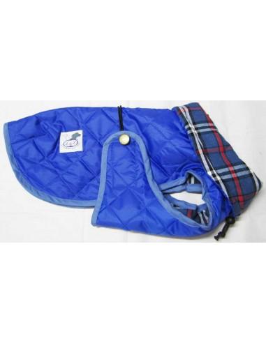 abrigo impermeable azul para perro