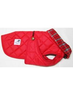 abrigo impermeable rojo para perro